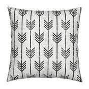 Arrow Grunge Geo Geometric Arrows Holli Throw Pillow Linen Cotton