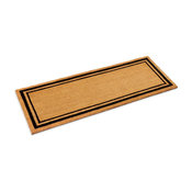 """Double Black Border Coco Mat With vinyl backing, 1/2"""" thick, 24"""" X 60"""""""