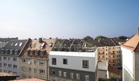 Unkonventionelle Aufstockung mit Dachgarten in Nürnberg