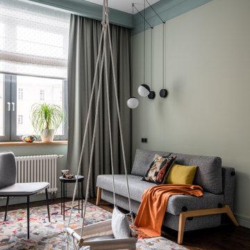 Квартира в современном доме в Казарменном переулке, общей S 117 кв.м.