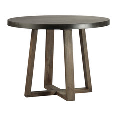 Round Stone And Oak Table