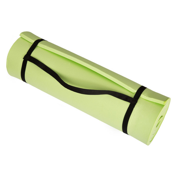 This Wakeman Fitness Extra Thick Foam Mat is perfect for use at home or in a gym as a fitness and exercise pad, or anywhere you need comfort from a hard floor. The extra thick 1/2 inch mat cushions your feet, spine, hips, knees and elbows on hard floors. Features a carrying strap and lightweight design that makes it easy to transport the mat from home to the gym. The mat is also great for camping, garage flooring, laundry rooms and to provide padding under a sleeping bag. When not in use, the mat can be easily rolled for storage.1/2 inch High Density EVA Foam for Superior ComfortNon-Slip Surface on One Side, Smooth Surface on the OtherCarrying Strap and Lightweight Design for Easy PortabilityColor:Dimensions: 72 inches (L) x 24 inches (W) x 0.50 inch (H)