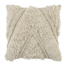 "Patan 100% Cotton 22"" Throw Pillow, Natural by Kosas Home"