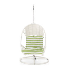 Auckland Wicker Hanging Chair With Stand