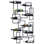 Oenophilia - Midcentury Wall Wine Rack - A homage to 60's era design, this handsome wall rack celebrates a time when architects were inspired by clean lines and creative use of metals. Combine this two piece set in a number of ways to create your very own mid-century masterpiece.