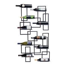 Midcentury Wall Wine Rack