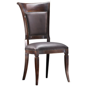 Classic Aged Walnut Dining Chair, Without Armrests