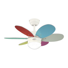 Lancaster Steel Ceiling Fan With Multicoloured Blades
