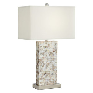 Mother Of Pearl 1 Light Table Lamp in Mother Of Pearl