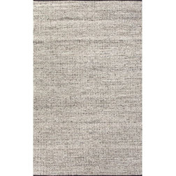 Contemporary Area Rugs Jaipur Rugs Flat-Weave Soft Hand Wool/Art Silk Gray/Ivory Area Rug