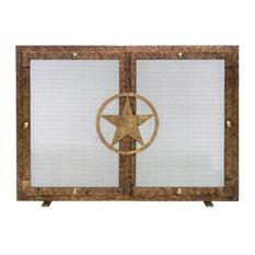 Ornamental Designs Lone Star Fireplace Screen, Bronze