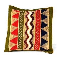 Handmade Geometric Water Batik Cushion Cover - Tonga Textiles