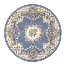 New Aubusson, Light Blue, 6' Round