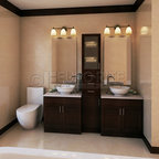New West Classic  Traditional  Bathroom  Vancouver  by Clay Construction Inc.