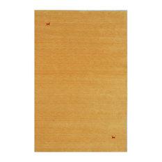 Asteria Gabbeh Wool Rug, Gold, 200x140 cm