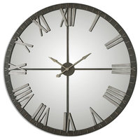 Amelie Large Rustic Bronze Wall Clock