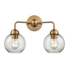 Thomas Lighting Astoria 2-Light Bath Bar CN280215, Satin Gold
