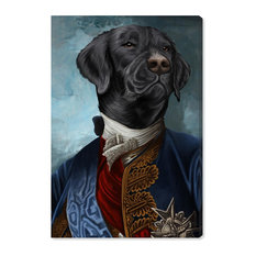 """Gentleman Black Lab"" Canvas Art Print, 75x115 cm"