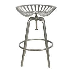 Esschert Design Tractor Seat Stool, Grey