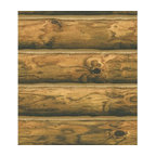 Ch7980 Mountain Logs Lodge Wood Stripe Wallpaper