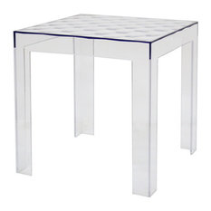 Baxton Studio   Baxton Studio Parq Clear Acrylic Modern End Table   Side  Tables And End