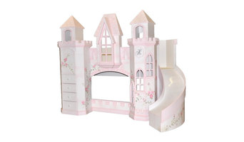 Castle Bed w/ Slide & Built-In Dresser