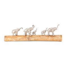 Imax Padua Elephants On Log Statue 23276