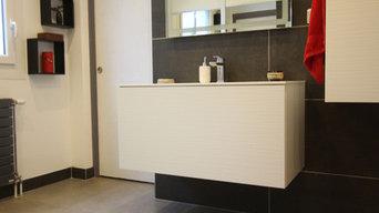 Révovation d'une salle d'eau avec séparation des sanitairess