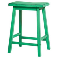 """ACME Furniture Gaucho 24"""" Counter Stool in Antique Green (Set of 2)"""