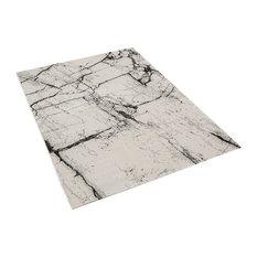 Marble Grey Rectangle Modern Rug, 120x170 cm