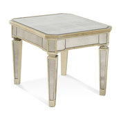 Borghese Mirrored Rectangle End Table