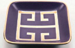 Greek Key Purple And Gold Tray
