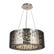 """Aramis 12 LED Light Chrome Finish and Clear Crystal 24"""" Round Chandelier"""
