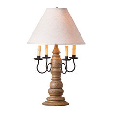 Bradford Lamp in Americana Pearwood with Shade