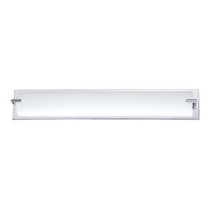 Paramount Series 5-Light Chrome Bath Light With White Glass