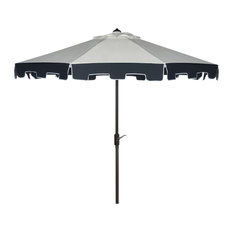 Uv Resistant City Fashion 9 Ft Auto Tilt Umbrella Natural / Navy