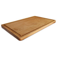 Delice Cherry Rectangle Cutting Board With Juice Drip Groove