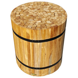 Rustic Accent And Garden Stools by Chic Teak