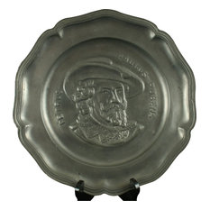 Consigned Plate Pewter Rubens Painter Vintage 1950
