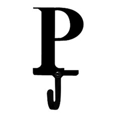 Wrought Iron Letter P Wall Hook Small