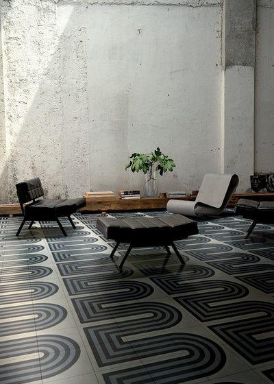 les motifs g om triques r inventent les carreaux de ciment. Black Bedroom Furniture Sets. Home Design Ideas