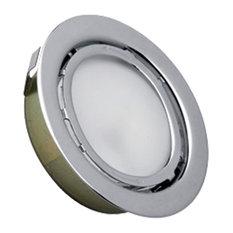 Cornerstone Aurora 1-Light Recessed Disc Light, Stainless Steel