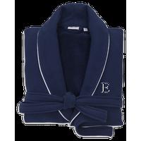 100% Turkish Cotton Waffle Terry Navy Robe, Small/Medium, Bookman, E