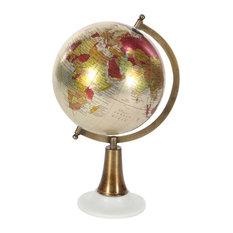 "GwG Outlet Metal Pvc Marble Globe 8""x15"""