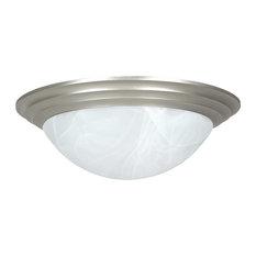 3-Light Flush Mount-Satin Nickel