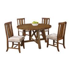 Delightful Furniture Import U0026 Export Inc.   Yorkville 5 Piece Round Dinette Set, Honey