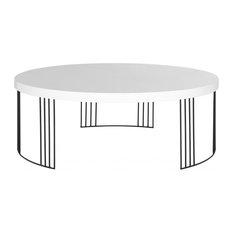 Keelin Mid-Century Scandinavian Lacquer Coffee Table, White