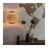 Art Deco Round Pendant Lamp - Rattan