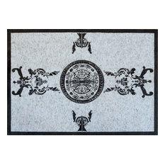 "Mosaic Rug, Scandinavian Pattern, 51""x71"""