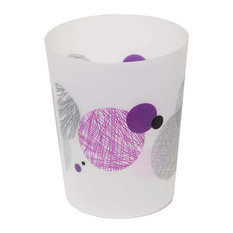 Purple wastebaskets houzz for Purple bathroom bin